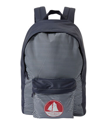 Boy's waterproof backpack Smoking blue / Marshmallow white