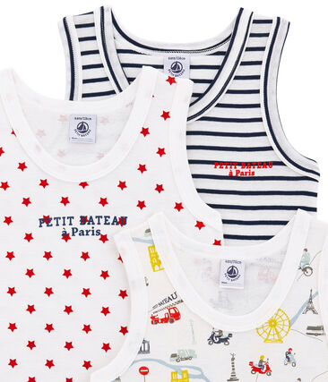 Little boy's vest top trio . set