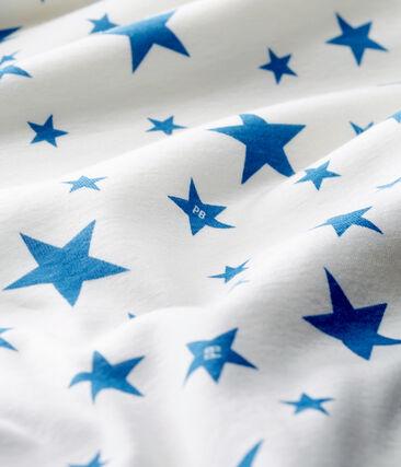 Babies' Compact Cotton Sleeping Bag Marshmallow white / Alaska blue