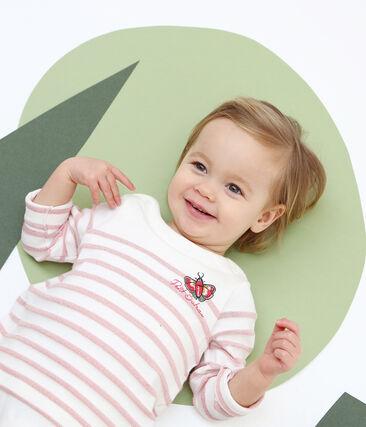 Baby girls' stripy breton bodysuit