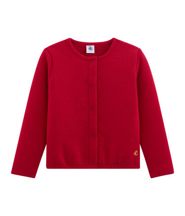 Girls' Cardigan Terkuit red