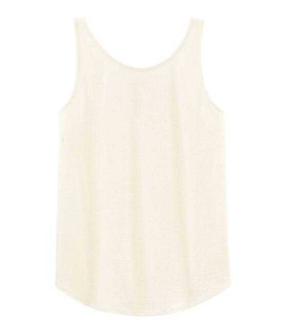 Women's Linen Vest Marshmallow white