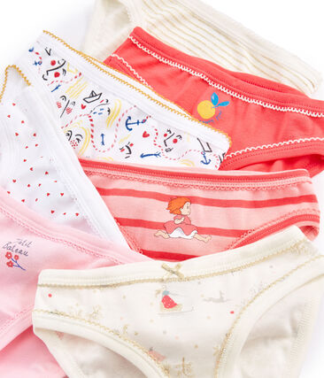Surprise pack of 7 pairs of pants for girls . set