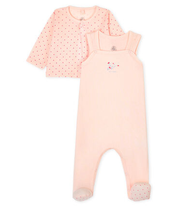 Babies' Ribbed Clothing - 2-Piece Set Fleur pink / Geisha pink