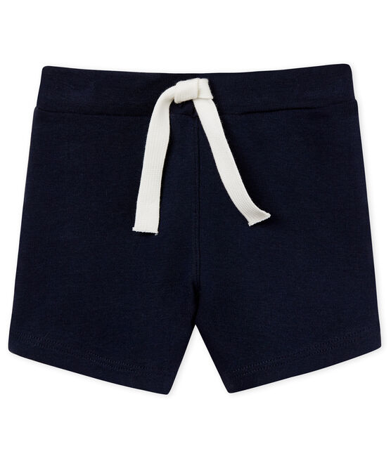 Baby boys' plain shorts Smoking blue