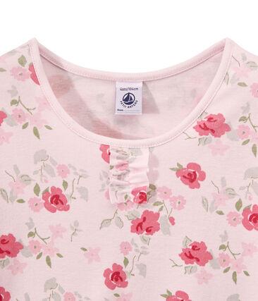 Girl's floral print pyjamas