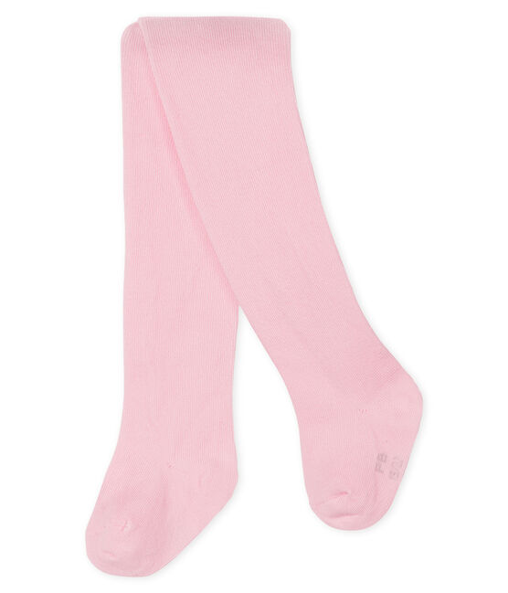 Baby girl's plain tights Vienne pink