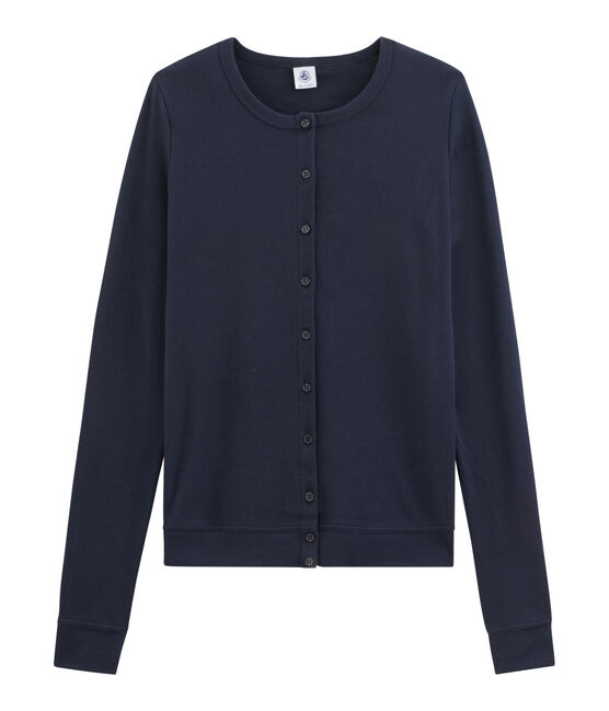 Women's Iconic Cardigan Smoking blue