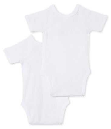 Newborn Babies' Short-Sleeved Bodysuit - Set of 2
