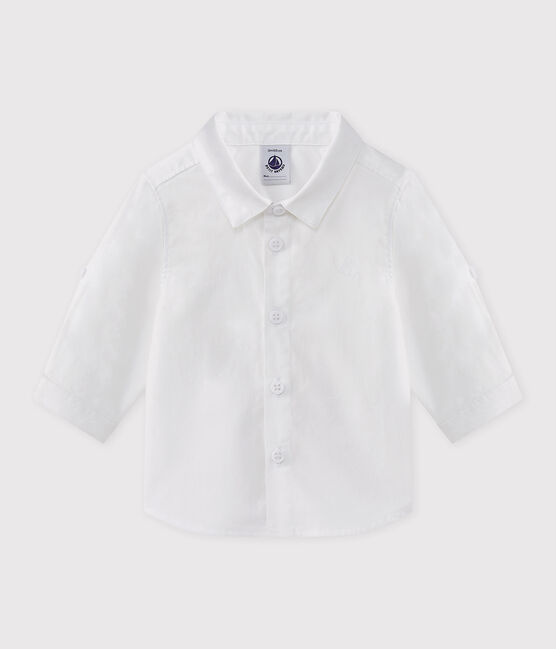 Baby boy's formal shirt Ecume white