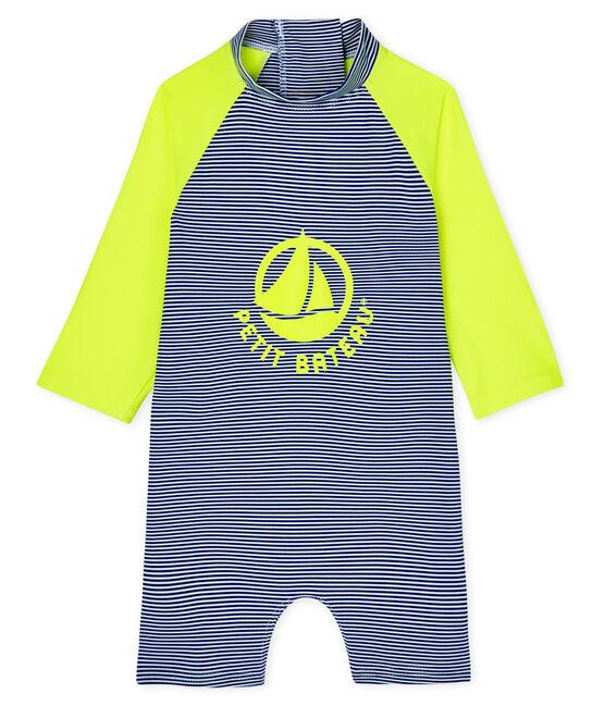 Unisex Eco-Friendly Full Body Swimsuit Surf blue / Marshmallow white