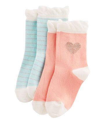 Pack of 2 Pairs of Girls' Socks