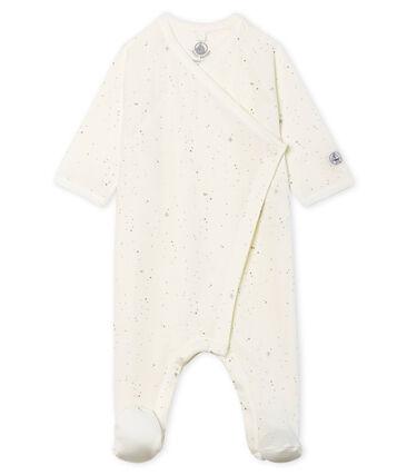 Babies' Tube Knit Sleepsuit Marshmallow white / Multico Cn white
