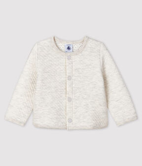 Baby girl's tubular knit cardigan Montelimar Chine grey