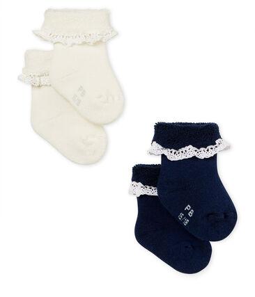 Baby girls' socks - 2-pack . set