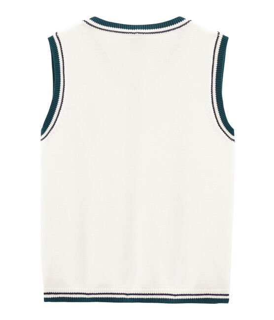 Boys' Sleeveless jumper Marshmallow white / Multico white