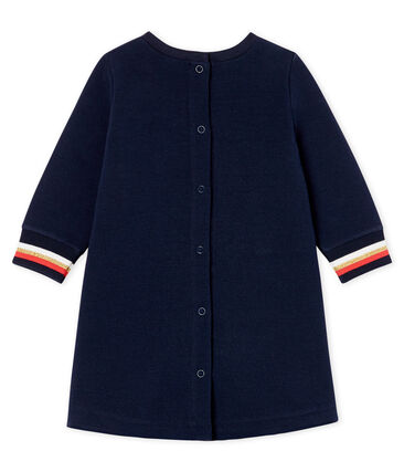 Baby Girls' Long-Sleeved Dress Smoking blue