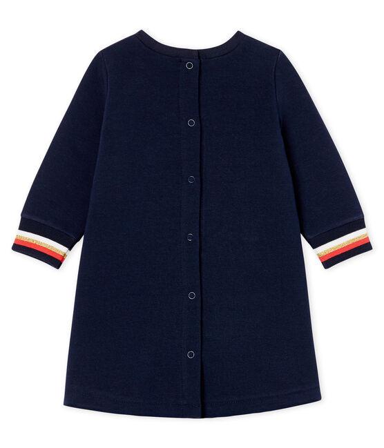 Baby Girls' Long-Sleeved Dress Smoking blue