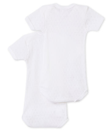 Set of 2 newborn baby short-sleeved unisex bodysuits