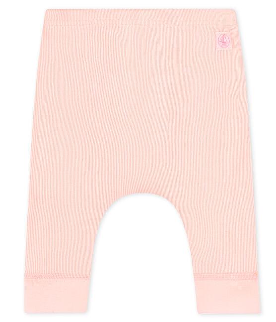 Baby leggings in cotton rib FLEUR