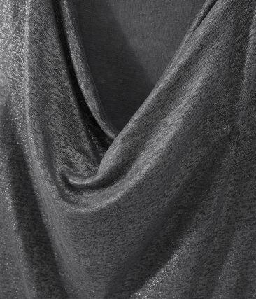 Women's iridescent linen top Maki grey / Argent grey