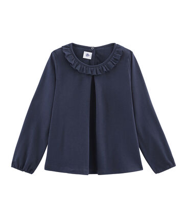 Girls' Long-Sleeved T-shirt Smoking blue