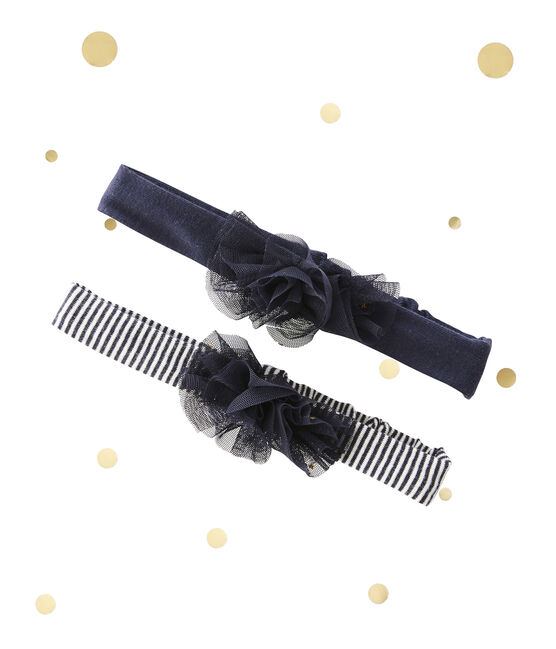 Pack of 2 baby girl's hairbands Petit bateau x Marie-Agnès Gillot . set
