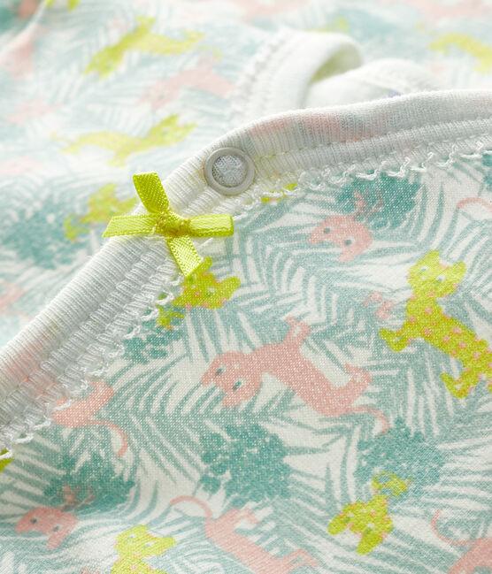 Baby Girls' Fleece Sleepsuit Marshmallow white / Multico white