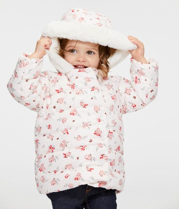 Baby Girls' Print Microfibre Down Jacket