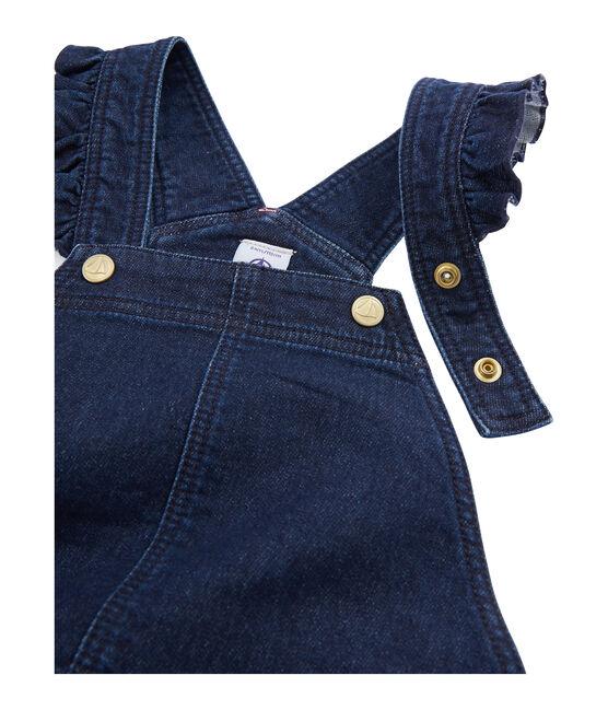 Girls' Dungaree Dress Denim Bleu Fonce blue