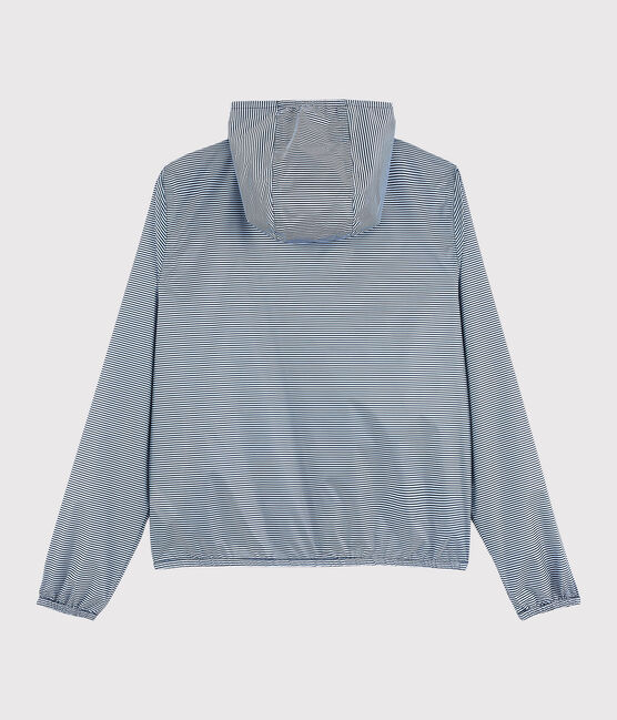 Women's 3 in 1 windbreaker made from recycled materials Smoking blue / Marshmallow white