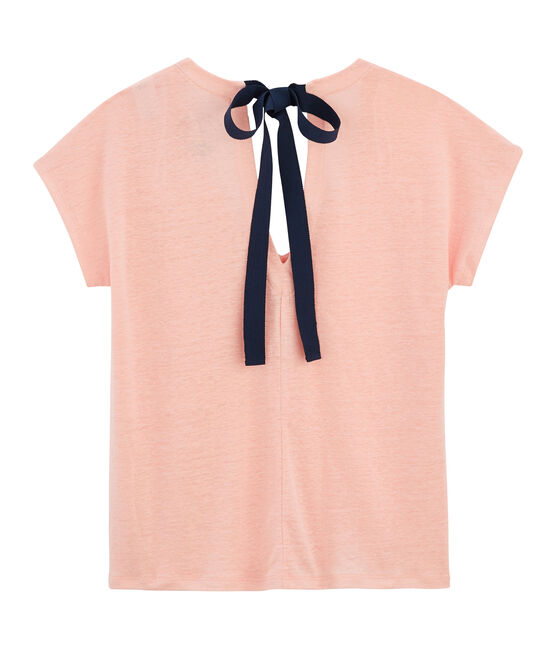 Women's Linen T-Shirt Patience pink