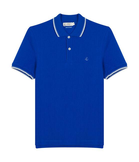 Men's short-sleeved polo shirt Perse blue