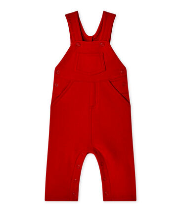 Baby boy's fleece overalls