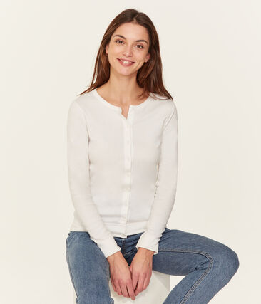 Women's Iconic Cardigan Ecume white