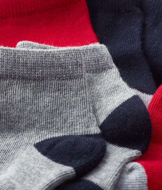 Baby Boys' Basic Socks - 5-Piece Set Smoking blue / Terkuit red