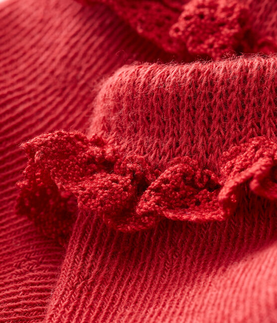 Baby girls' lace socks Terkuit red