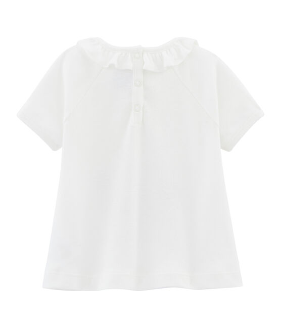 Baby Girls' Plain T-shirt Marshmallow white / Multico white