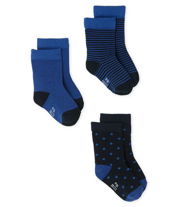 Baby Boys' Socks - 3-Piece Set Smoking blue / Limoges blue