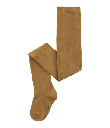 Girl's jersey tights Brindille brown