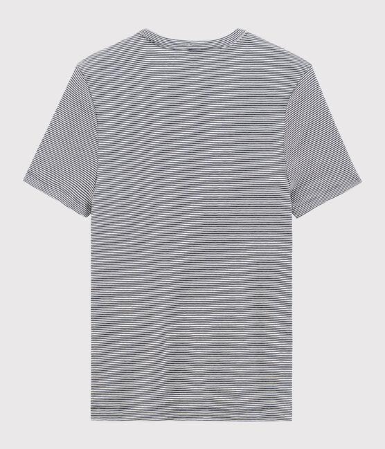 Men's short-sleeved T-shirt Smoking blue / Marshmallow white