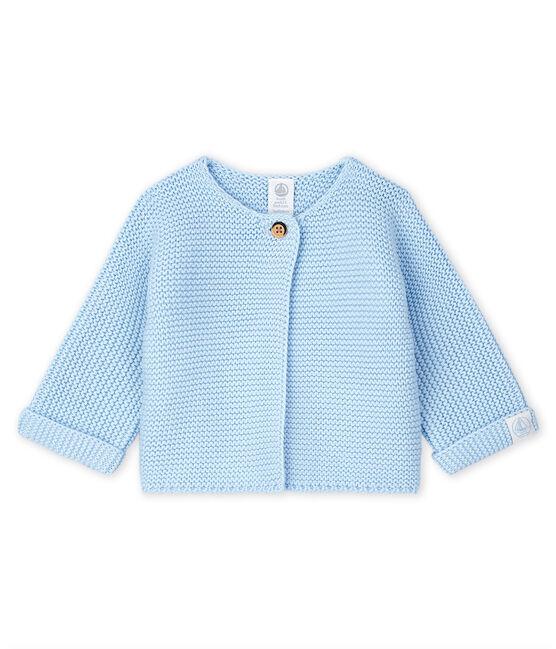 Babies' Cardigan Made Of 100% Cotton Knit Toudou blue