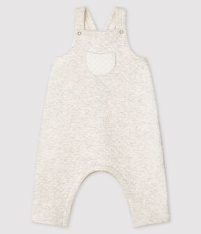 Babies' long tube-knit dungarees Montelimar Chine grey