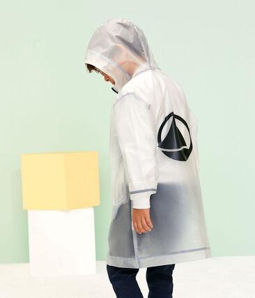 Unisex Children's Long See-Through Waxed Coat Transparent blue