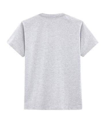Unisex T-Shirt with Postcard Motif Poussiere Chine grey