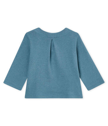 Baby girls' cotton/linen cardigan Crystal blue