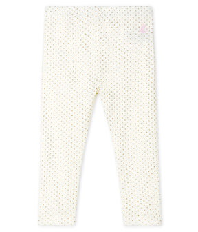 Baby Girls' Print Leggings Marshmallow white / Or yellow