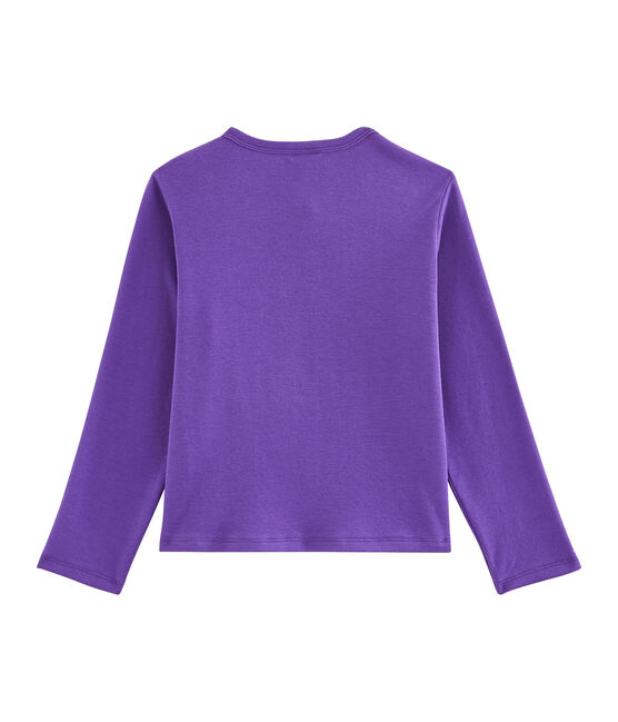 Girls' Cardigan Real purple