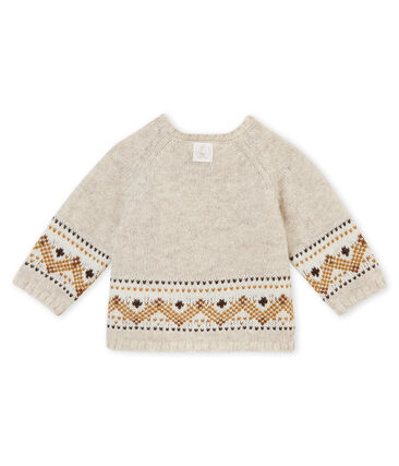 Baby boy's cardigan in knit jacquard