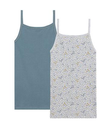 Girl's strap vest duo